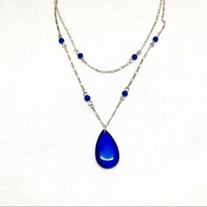 Jewelry - Vintage Double Strand Blue Stone Necklace